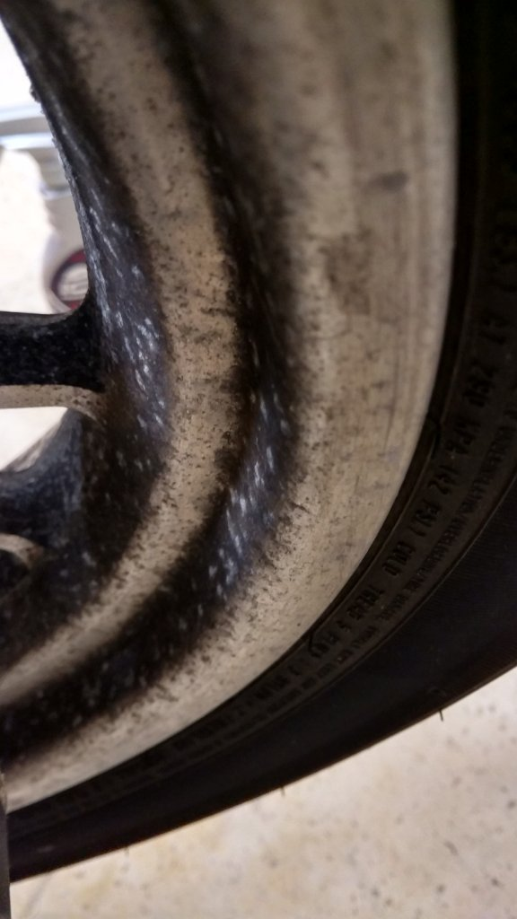 Cleaning neglected aluminum wheels - Harley Davidson